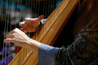 The harp was in a different form also known in Hebrew music