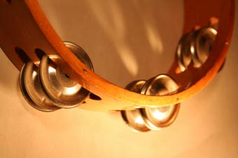 The tambourine is one of the instruments found in Hebrew music.