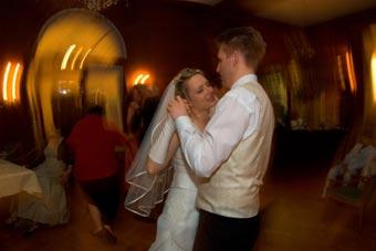 Couple dancing on wedding songs